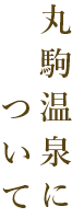 丸駒温泉について